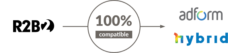 100% compatible with Adform and Hybrid